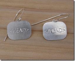 For The Ladies Head HTML Earrings