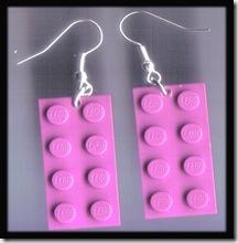PURPLE 2X4 LEGO EARRINGS