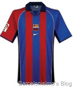 2001-2002 fc barcelona home