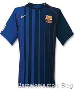 2004-2005 fc barcelona away